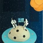 Θεματικό Πάρτι Διάστημα – Τούρτα Φεγγάρι