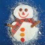 Γιορτινό Κέικ Χιονάνθρωπος