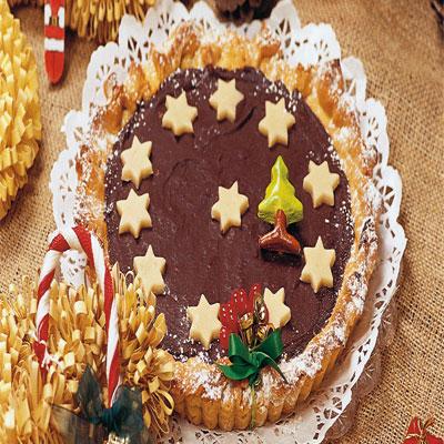 Χριστουγεννιάτικη Τάρτα Πραλίνας Φουντουκιού