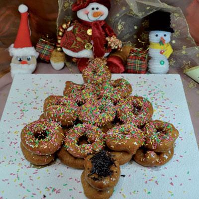 Συνταγή Λουκουμάδες Χριστουγεννιάτικο Δέντρο
