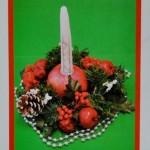 Χριστουγεννιάτικο Κηροπήγιο με Ρόδι για Γούρι