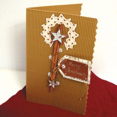 Χριστουγεννιάτικη Κάρτα Με Μπαστουνάκια Κανέλλας