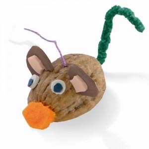 Χριστουγεννιάτικη Κατασκευή Στολίδι Ποντικάκι