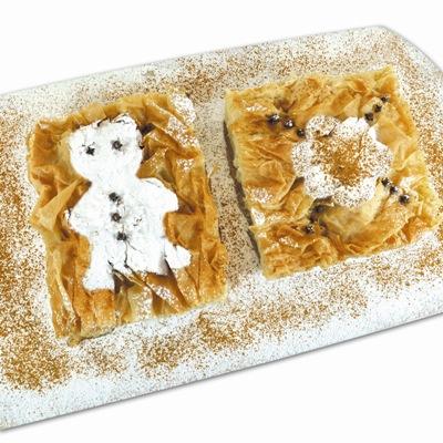 Χριστουγεννιάτικη Συνταγή Μπουγάτσα με Σχέδια