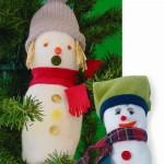 Χριστουγεννιάτικο Στολίδι Χιονάνθρωπος από Κάλτσα
