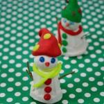 Χριστουγεννιάτικη Κατασκευή Χιονάνθρωπος από Πλαστελίνη