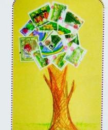 Κατασκευή Κολλάζ από Γραμματόσημα