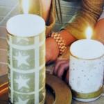 Χειροποίητη Κατασκευή Χριστουγεννιάτικα Κεριά