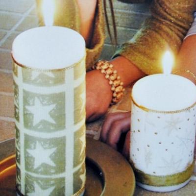 Κατασκευή Χριστουγεννιάτικο Κερί