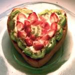 Γλυκιά Τάρτα Σοκολάτας σε Σχήμα Καρδιάς