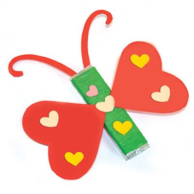Κατασκευή Πεταλούδα Με Καρδιές
