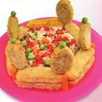 Συνταγή Ριζότο Λαχανικών σε Σχήμα Στέμμα