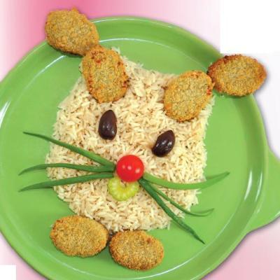 Συνταγή Ριζότο Με Λαχανικά σε Σχήμα Λαγού