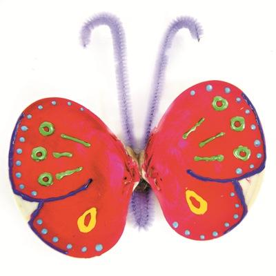 Κατασκευή Πεταλούδα με Κοχύλια
