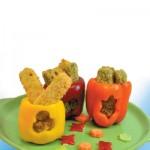 Πιπεριές Γεμιστές με Μπουκιές Λαχανικών