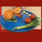 Σνακ για Παιδιά με Λαχανικά... Σαλιγκάρια