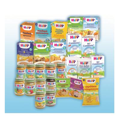 Σειρά Βιολογικών Προϊόντων Βρεφικής & Παιδικής Διατροφής Hipp