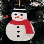 Χριστουγεννιάτικη Κατασκευή Χάρτινος Χιονάνθρωπος
